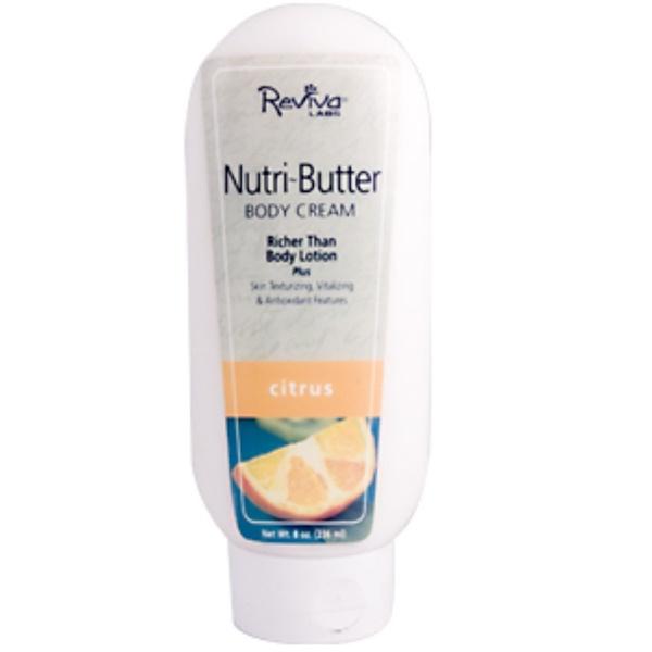 Reviva Labs, Nutri-Butter, Body Cream, Citrus, 8 oz (236 ml) (Discontinued Item)