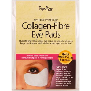 Ревива Лабс, Collagen-Fibre Eye Pads, 3 Sets of Two Contoured Pads отзывы покупателей
