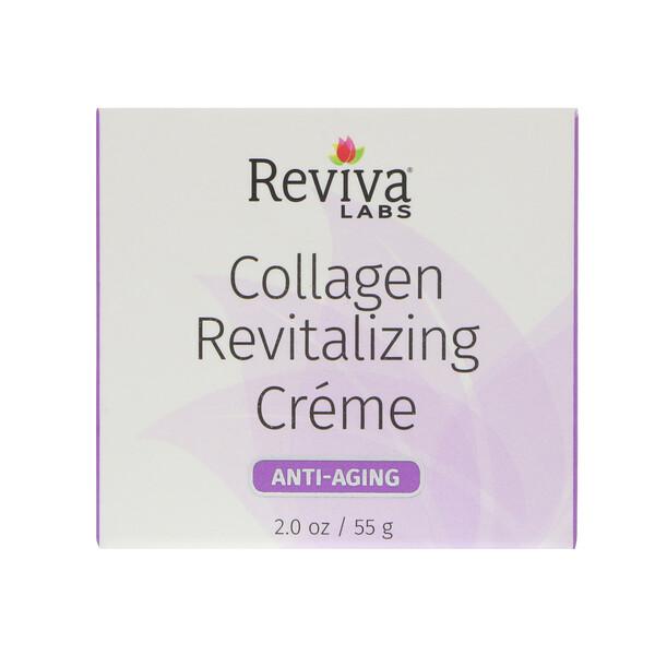 Reviva Labs, 콜라겐 리바이탈라이징 크림, 노화 방지, 2 oz (55 g)