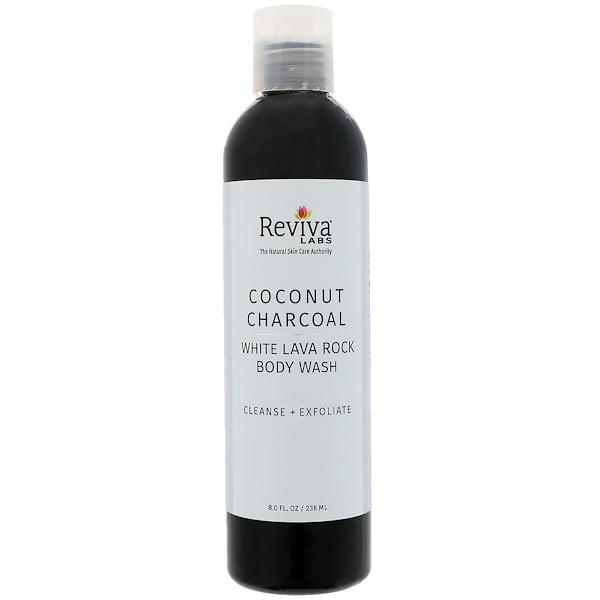 Reviva Labs, Гель для душа с кокосовым углем и белой лавой, 236мл (8жидк.унций)