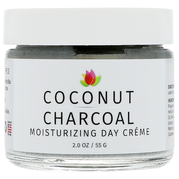 Reviva Labs, Coconut Charcoal Moisturizing Day Creme, 2 oz (55 g)