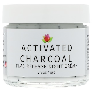 Reviva Labs, Activated Charcoal, Time Release Night Creme, 2 oz (55 g)