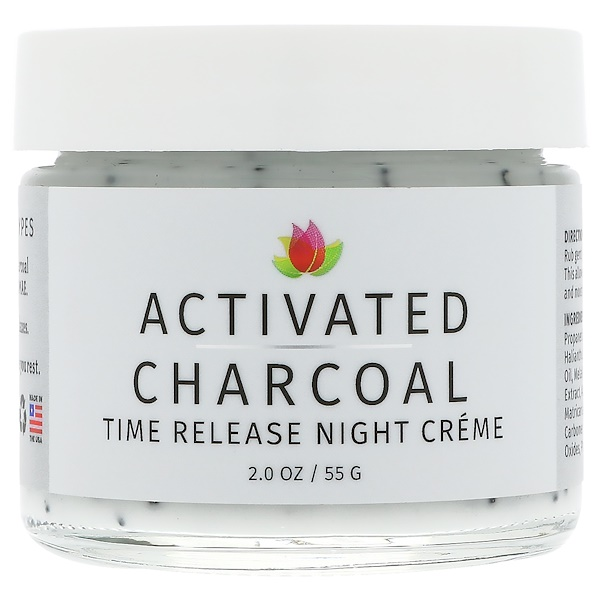 Reviva Labs, Activated Charcoal, Time Release Night Creme, 2 oz (55 g) (Discontinued Item)