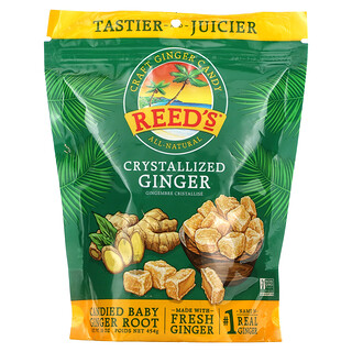 Reeds, Craft Ginger Candy, Crystallized Ginger, 16 oz (454 g)