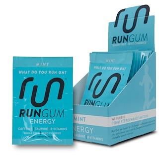 Run Gum, エナジーガム、ミント、12パック