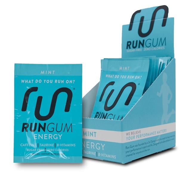 Run Gum, 能量口香糖,薄荷味,12 包