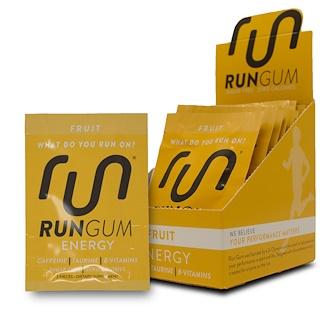 Run Gum, Energy Gum, Fruit, 12 Packs