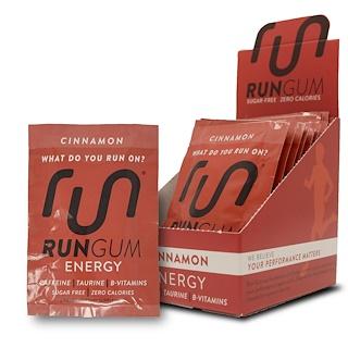 Run Gum, Energy Gum, Cinnamon, 12 Packs