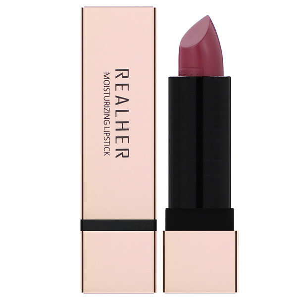RealHer, Boss, Moisturizing Lipstick, Plum, 0.12 oz (3.5 g)  (Discontinued Item)