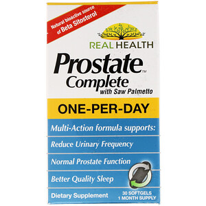 Рил Хэлс, Prostate Complete with Saw Palmetto, 30 Softgels отзывы