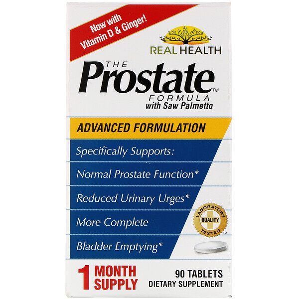 Real Health, The Prostate Formula with Saw Palmetto, 90 Tablets