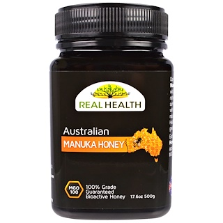 Real Health, Australian Manuka Honey, MGO 100, 17.6 oz (500 g)