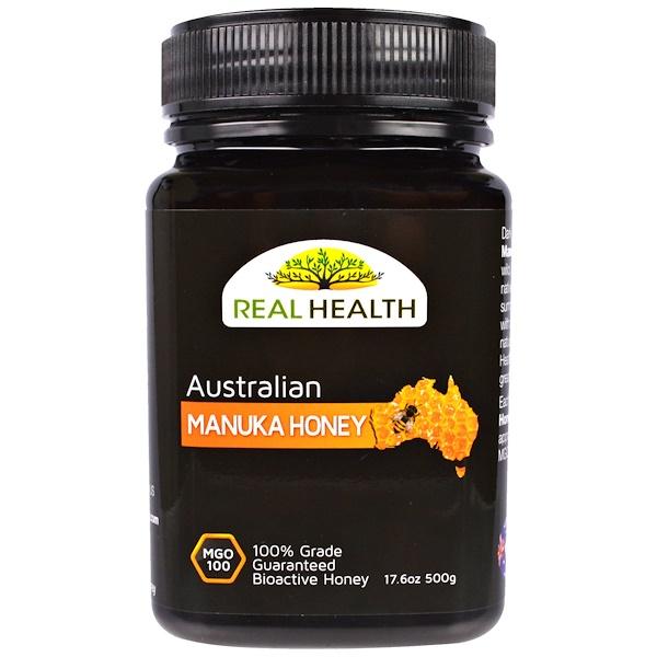 Real Health, Australian Manuka Honey, MGO 100, 17.6 oz (500 g) (Discontinued Item)