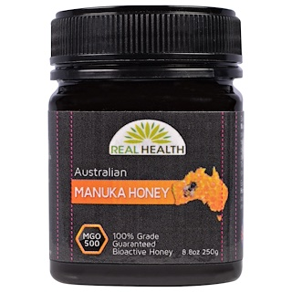 Real Health, Australian Manuka Honey, MGO 500, 8.8 oz (250 g)