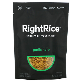Rightrice, Made From Vegetables, Garlic Herb, 7 oz (198 g)