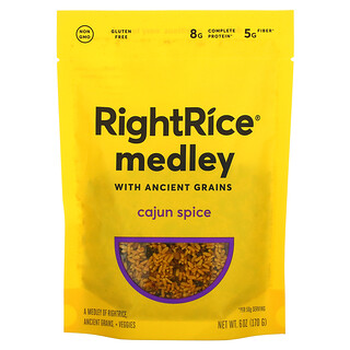 Rightrice, Medley with Ancient Grains, Cajun Spice, 6 oz (170 g)