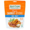 Rhythm Superfoods, Organic Carrot Sticks, Sea Salt, 1.4 oz (40 g)