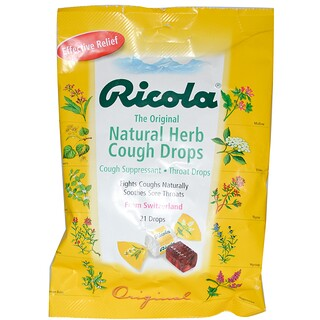 Ricola, The Original Natural Herb Cough Drops, 21 Drops