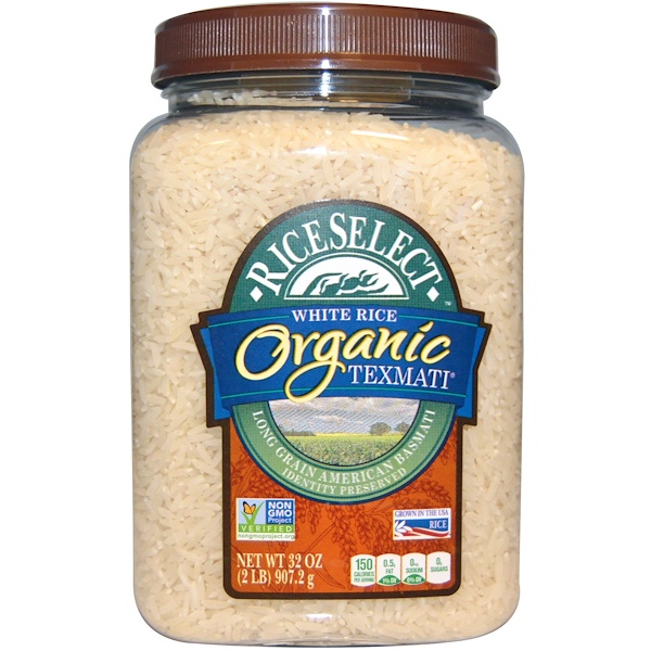 Rice Select, Organic Texmati White Rice, Long Grain American Basmati, 32 oz (907.2 g)