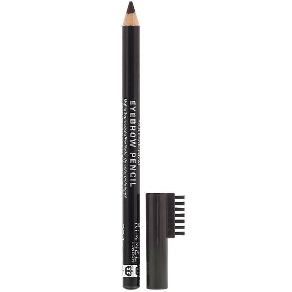 Lápis de sobrancelha profissional, 004 Marrom-preto, 1,4 g