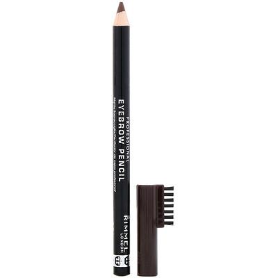 Купить Rimmel London Профессиональный карандаш для бровей, 001 темно-коричневый, 1, 4г