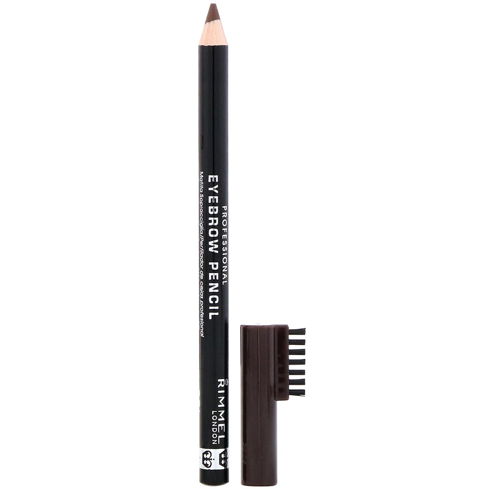 Rimmel London, Профессиональный карандаш для бровей, 001 темно-коричневый, 1,4 г