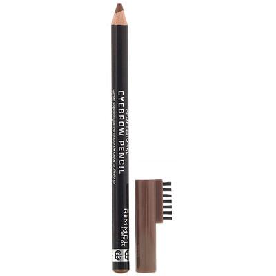 Купить Rimmel London Профессиональный карандаш для бровей, 002 светло-коричневый, 1, 4г