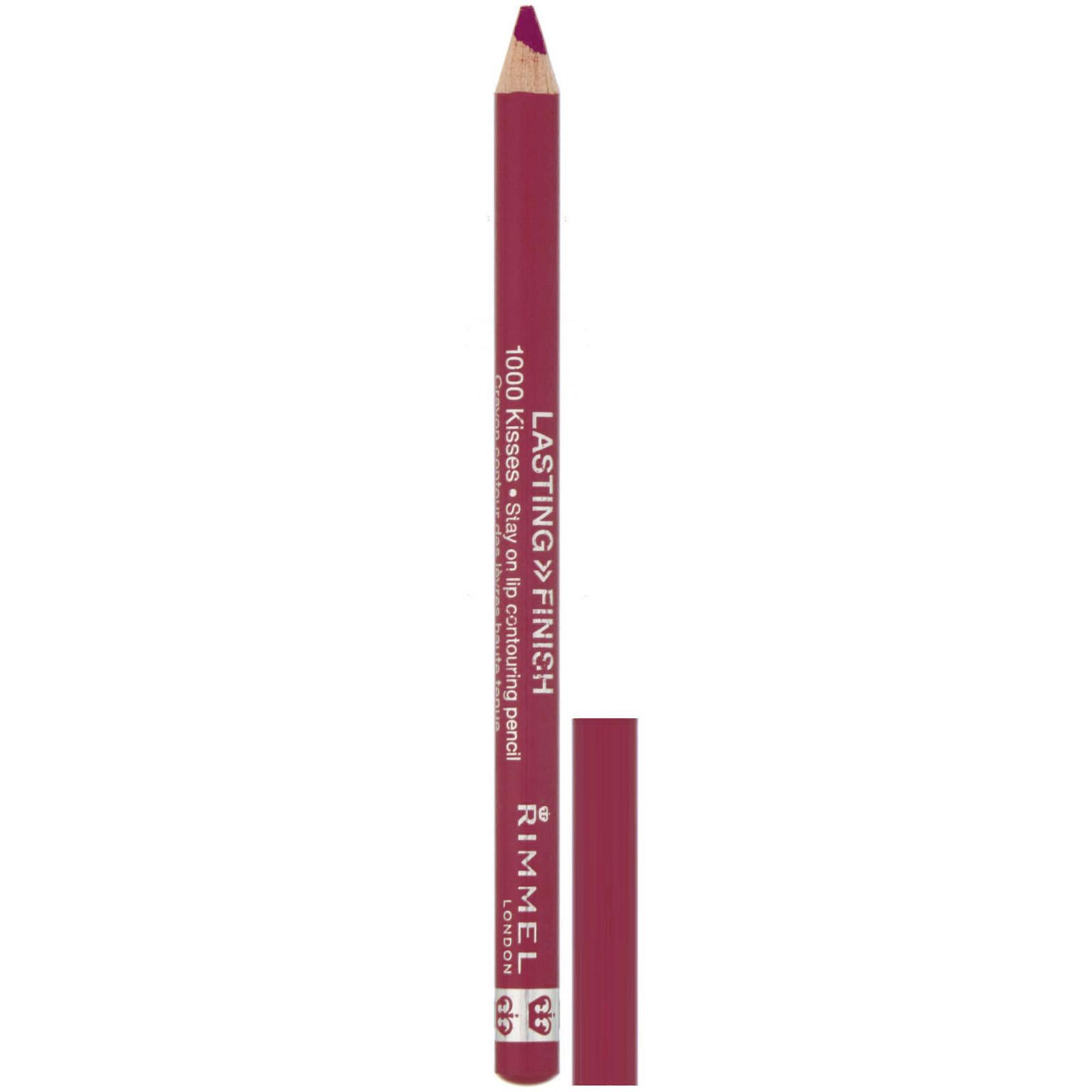 Rimmel London, Lasting Finish, 1000 Kisses Stay On, контурный карандаш для губ, оттенок 004 «Розовый», 1,2 г