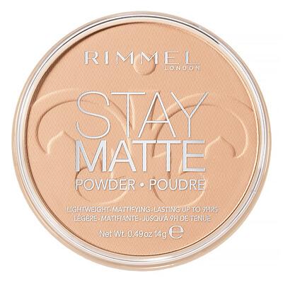 Купить Rimmel London Stay Matte, компактная легкая пудра с матирующим эффектом, оттенок 004 «Песчаная буря», 14г