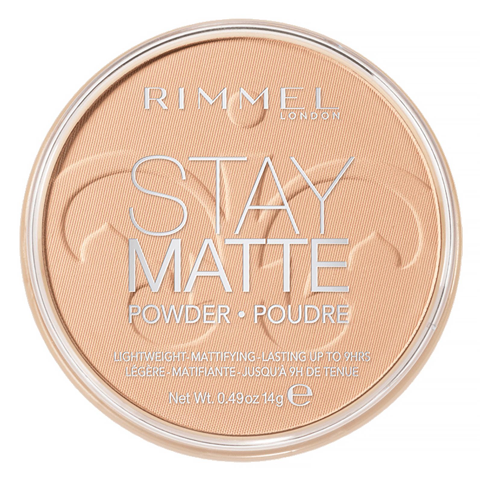 Rimmel London, Stay Matte, компактная легкая пудра с матирующим эффектом, оттенок 004 «Песчаная буря», 14 г