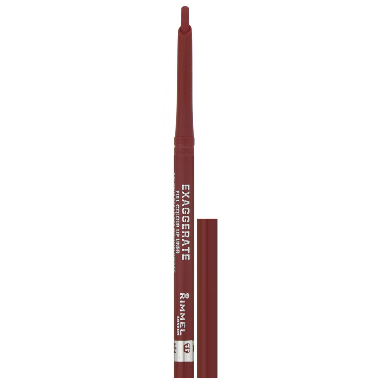 Rimmel London, Интенсивный контурный карандаш для губ Exaggerate, оттенок 057 «Восторг», 0,25 г