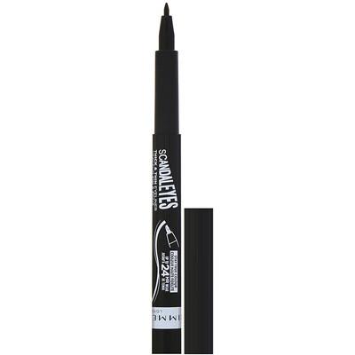 Купить Rimmel London Подводка для глаз Scandaleyes Thick & Thin, оттенок 001 Черный, 1, 1 мл