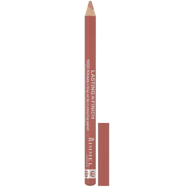 Rimmel London, Lápiz para el contorno de los labios Lasting Finish, 1000 Kisses Stay On, 081 Spiced Nude, 1,2 g (0,04 oz)