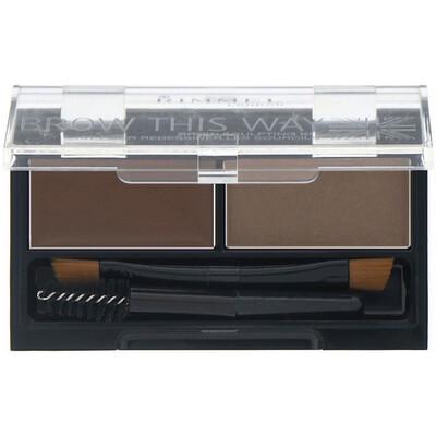 Купить Rimmel London Набор для моделирования бровей Brow This Way, 003 темно-коричневая палитра, 1шт