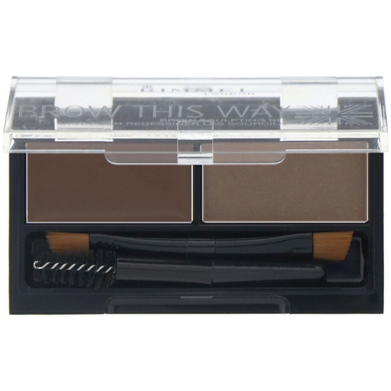 Rimmel London, Набор для моделирования бровей Brow This Way, 003 темно-коричневая палитра, 1 шт