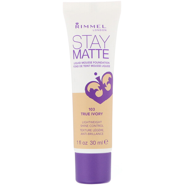 Stay Matte Liquid Mousse Foundation, 103 True Ivory, 1 fl oz (30 ml)