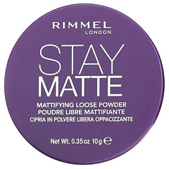 Rimmel London, 保持啞光,輕薄散粉,001 號,透明,0.35 盎司(10 克)