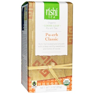 Rishi Tea, Organic Loose Leaf Tea, Pu-erh Classic, 3 oz (85 g)