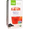 Rishi Tea, Organic Artisan Iced Tea, Caffeine-Free, Blueberry Hibiscus, 5 - 1 Quart Iced Tea Sachets, 2.11 oz (60 g)