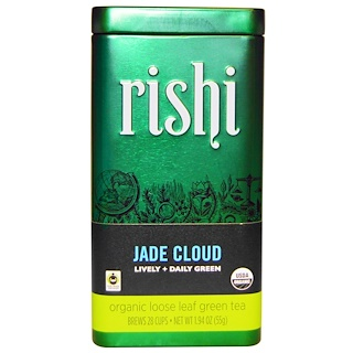 Rishi Tea, Organic Loose Leaf Green Tea, Jade Cloud, 1.94 oz (55 g)