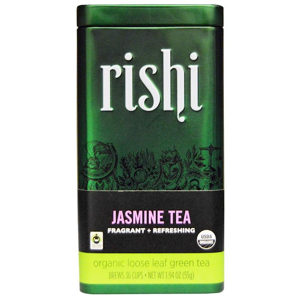 Rishi Tea, Organic Loose Leaf Green Tea, Jasmine, 1.94 oz (55 g)