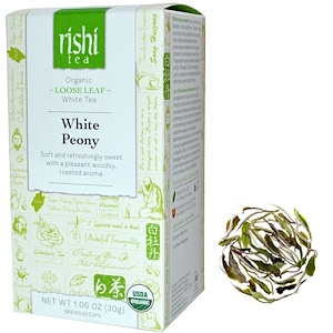 Риши Ти, Organic White Tea, White Peony, Loose Leaf, 1.06 oz (30 g) отзывы