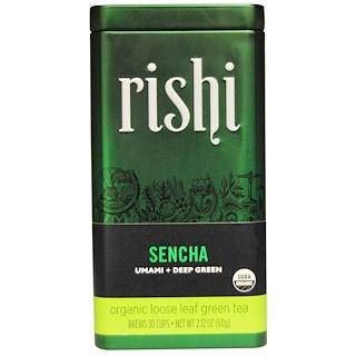 Rishi Tea, Organic Loose Leaf Green Tea, Sencha, 2.12 oz (60 g)