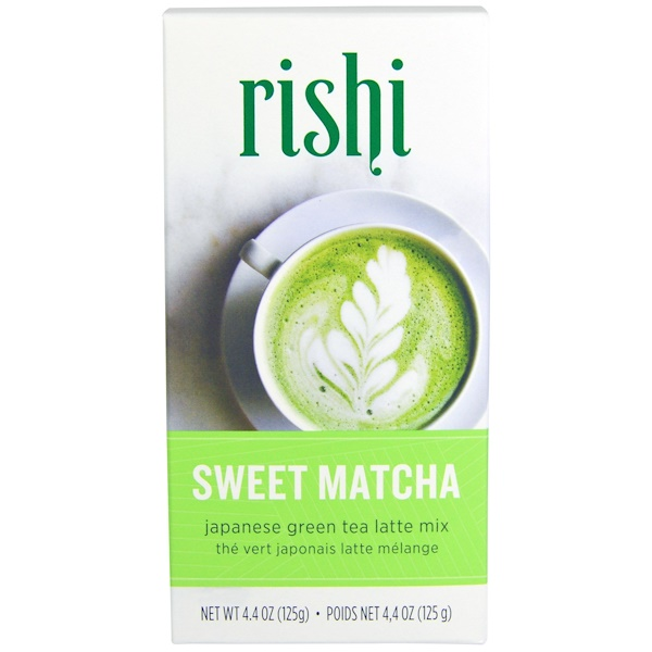 Rishi Tea, Japanese Green Tea Latte Mix, Sweet Matcha, 4.4 oz (125 g)