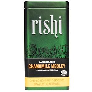 Риши Ти, Organic Loose Leaf Herbal Tea, Chamomile Medley, Caffeine Free, 1.06 oz (30 g) отзывы