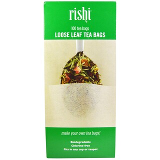 Rishi Tea, Loose Leaf Tea Bags, 100 Tea Bags