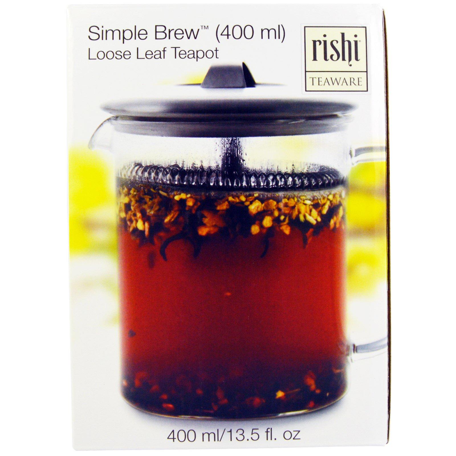 rishi tea simple brew teekanne f r losen tee 400 ml. Black Bedroom Furniture Sets. Home Design Ideas
