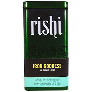 Риши Ти, Iron Goddess, Loose Leaf Oolong Tea, Apricot + Fig, 1.76 oz (50 g) отзывы