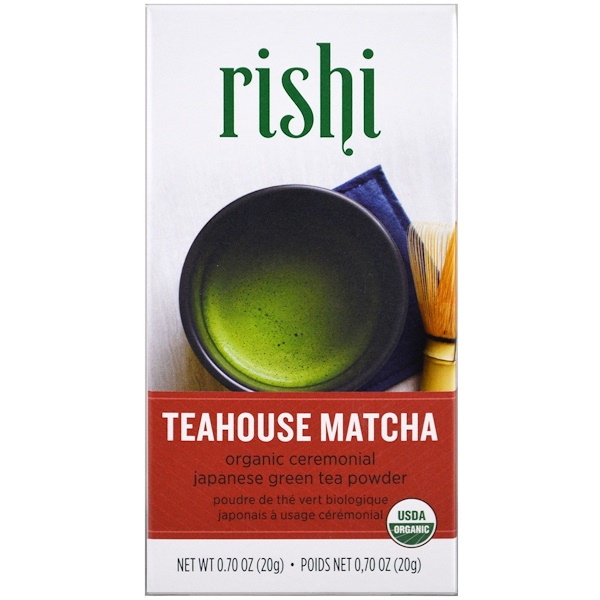 Rishi Tea, Teahouse Matcha, Organic Ceremonial Japanese Green Tea Powder, 0.70 oz (20 g)