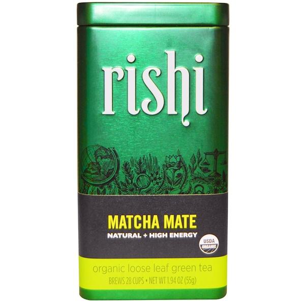 Rishi Tea, Organic Loose Leaf Green Tea, Matcha Mate, 1.94 oz (55 g) (Discontinued Item)